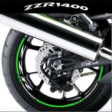 LISERETS JANTES MOTO ZZR 1400 STICKERS kit pour 2 jantes 40 couleurs
