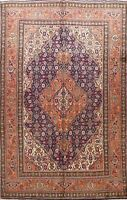 Vintage Traditional Geometric Hand-knotted Area Rug Wool Oriental Carpet 7x10 ft