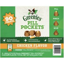 New listing Greenies Pill Pockets Capsule-Size Natural Dog Treats: Chicken Flavor - 90 Count
