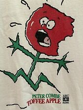 Unisex Peter Combe TOFFEE APPLE T'shirt! 1987 (PETER'S ACTUAL SHIRT)!! 😲 Size M