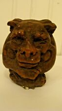 """Vintage Clay/Resin Gargoyle Figurine, Signed 2.8"""" tall x 2.5"""" long x 3"""" wide"""