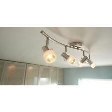 New Hampton Bay 4-Spot Light Brushed Steel Wave Bar Track Lighting (EC340BA)