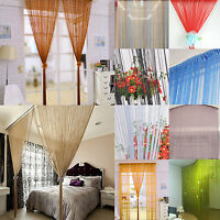 Tassel Line String Window Curtain Door Fringe Panel Room Divider Scarf Valances
