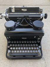 Vintage 1930s Royal Typewriter Black