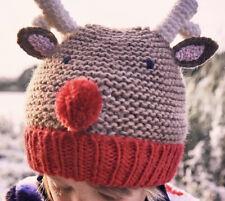 Joules Girls Christmas Festive Chummy Hat - Brown Reindeer - 3 - 7 Years - BNWT