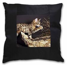 A Gorgeous Bengal Kitten Soft Velvet Feel Cushion Cover With Inner Pi AC-43-CPW