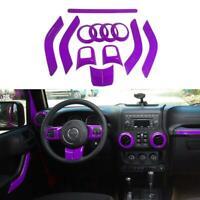 Purple Steering Wheel Dashboard AirOutlet Cover Trim for 4-Door Jeep Wrangler JK