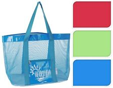 Oversize Large Beach Bag Tote Picnic Bag PVC & Mesh Holiday Beach Bag Shopper