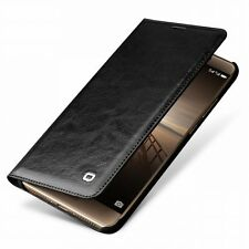 QIALINO for Huawei Mate 9 Classic Flip Smart Wake Sleep Genuine Leather Case - B