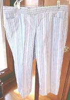 Women's SO GSJC Striped Capri Pants with stretch Size 16/17 NICE!
