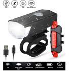USB Rechargeable Bike Lights Rear Front Hazard Waterproof LED Front & Rear Light