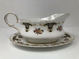 Royal Stafford 'Balmoral' Gravy Boat & Underplate 1st Quality