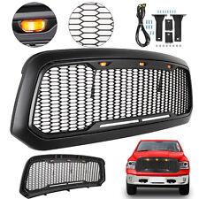 For 2013-2018 Dodge Ram 1500 Mesh Grille W/ LED Light Raptor Style