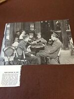 m8-1 ephemera 1938 ww1 picture 1914 mons retreat soldiers take a beer