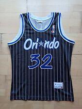 Shaquille O'Neal Orlando Magic Champion NBA Trikot Jersey Black Pinstripe M SHAQ