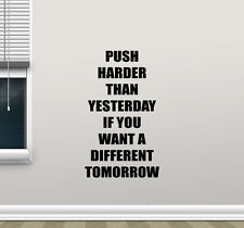 Fitness Quote Wall Decal Gym Motivation Sport Vinyl Sticker Poster Mural 203crt