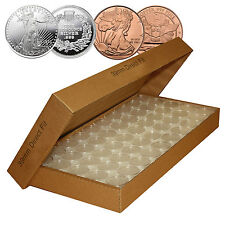 50 Direct Fit Airtight H39 Coin Capsules for 1oz SILVER ROUNDS or COPPER ROUNDS