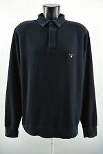 Gant Camisa Polo de hombre con cuello manga larga 100% Algodón Regular Fit Azul Marino Talla 2XL