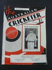 DECEMBER 1933 ISSUE OF THE AUSTRALIAN CRICKETER / ERNEST JONES TO COVER