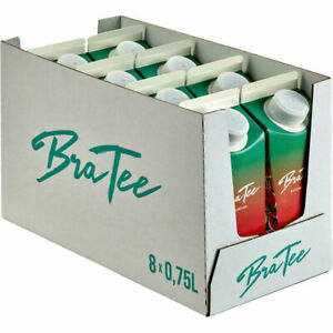 BraTee Wassermelone Eistee 0,750 L Packung, 8er Pack (8x0,75 L)