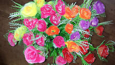 État de 36 mixte couleur rose soie fleur artificielle bouquets wholesale lot 13