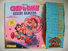 Panini: Chip´n Dale Rescue Rangers, 50 volle Tüten + Leeralbum von 1989, rar !!!