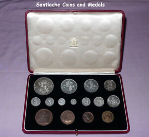 1937 ROYAL MINT KING GEORGE VI CORONATION PROOF SET OF COINS - Crown to Maundy