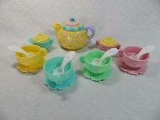 Fisher Price Musical Tea Party Set Teapot Pastels Play Dishes Playset