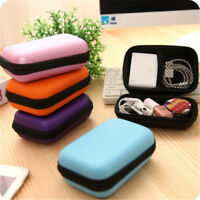 1PC Portable Mini Travel Cable Earphone Phone Charger Storage Bags Case Pouch #S