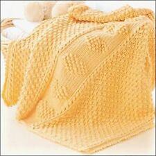 """Baby Boy or Girl Heart Popcorn Blanket  28x32""""  DK Crochet Pattern"""