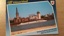 Postkarte Düsseldorf Rheinpromenade Lambertus Kirche Thyssen Hochhaus Schloßturm