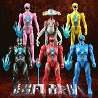 Power Rangers Action Figures Toys Superheroes 6pcs Set PVC Kids Toys Dolls Gift