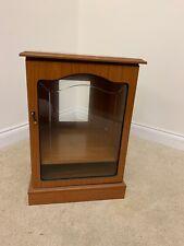 DISPLAY CABINET GLASS DOOR 1 SHELF LID OPENS