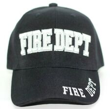 FIRE DEPT EMBROIDERY HAT BASEBALL CAP ADJUSTABLE STRAP ONE SIZE FITS ALL