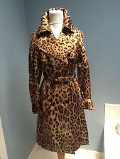 NWOT Dolce & Gabbana leopard double breasted trench coat IT 40 US 4-6
