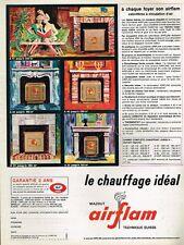 G- Publicité Advertising 1965 Le Chauffage calorifère Mazout Airflam