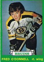 Fred O'Donnell 1973 OPC Autograph #223 Bruins