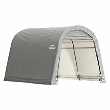 Shed-in-a-Box 10' x 10' x 8' RoundTop Storage Shed, Gray
