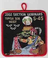 B7103 OA BSA Scouts SR-4S SECTION SEMINARS 2002  TIPISA 326 HOST LODGE
