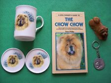 More details for chow chow collectables, bone china coaster & mug, model, keyring & signed book