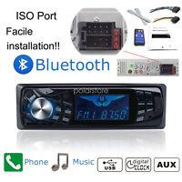 1 DIN Bluetooth Stéréo Autoradio FM AUX USB MP3 Récepteur Radio Mains Libres