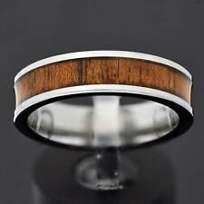 Tungsten Carbide 6mm High Polish Wood Inlay Women's Jewelry Wedding Band TR