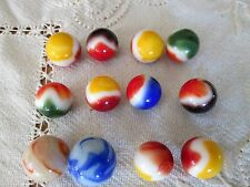 12 vintage Marbles Akro Agate Peltier Shooter size
