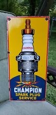 SPARK PLUGS sign porcelain vintage brand plug service station gasoline display