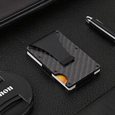 Porte-cartes de crédit mince en fibre de carbone Porte-monnaie bloquant la RFID