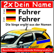 2x Rally Racing Tuning Motorsport  DTM Styling Dein Name & Flagge  Aufkleber