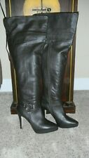 Ros Hommerson Tease Over the Knee, thigh high Leather Boots 9 M, fold to knee