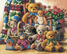 """Dimensions Gold Collection Teddy Bear Gathering Counted Cross Stitch Ki-15""""X12"""""""
