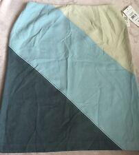 Norton Studio Womens 'Corso Com' Suede Feel Diagonal Colorblock Skirt Sz 12 NWT