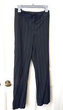 M&S Navy Women's Trousers  Size 18 Short Wool Mix Wide Leg NEW